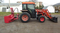 2009 Kioti DK45S Tractor with Accessories