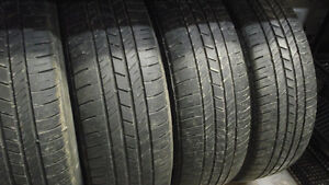 Set of four Goodyear 215/65 R17 on rims