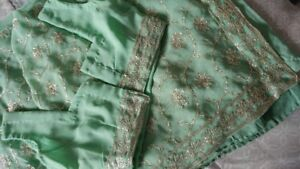 Seagreen Sari Perfect for the Summer