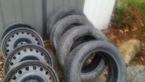 235 55 18 michelin (ice) XI2, 18 inch good winter tires and rims