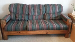 Couch --Solid Wood Frame