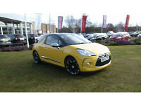 13 Citroen DS3 1.6e-HDi ( 115bhp ) Airdream DSport Plus, Sport Yellow, 14459 mls