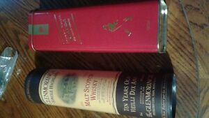 Collectible whiskey tins