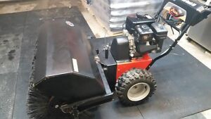 Ariens 36 inch power brush sweeper much more snow in FEBRUARY