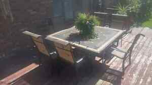 6 seat square patio set
