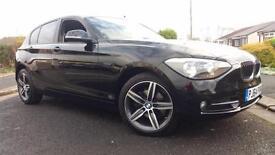 2014 64 BMW 116 1.6i SPORT136BHP SPORTS HATCH.FRESHLY SERVICED BY BMW.2 X KEYS .