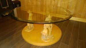 Western sculpture coffee table