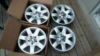 Original BMW 16x7 aluminum winter rims wheels 5x120