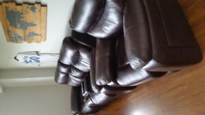 Reclining leather couches for sale. Great condition!
