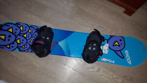 SNOWBOARD, BOOTS AND BINDINGS