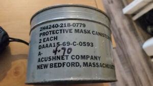 Canisters for the ND Mark V Protective Mask