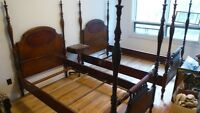 1930's FOUR POSTER (1 Bed ) TWIN 5pcs Bedroom Set