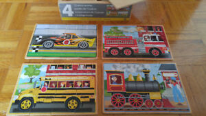 Wood puzzles (Melissa and Doug). 15 for all.