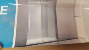 New OVE 12mm thick tempered glass shower doors