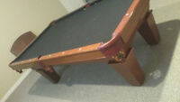 Mint condition Brunswick pool table with engraved pearl