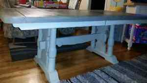 Vintage refinished farmhouse table