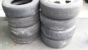 """4 x 16"""" Chev Alloy rims and 8 x 235/70R/16 tires"""