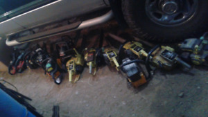 Lots of chainsaws for sale