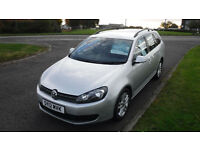 Volkswagen Golf 1.6TDI Estate Car 2012,SE,1 Owner,Alloys,Air Con,Cruise,F.S.H