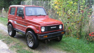 1986 Samurai.Hard Top ,5 speed