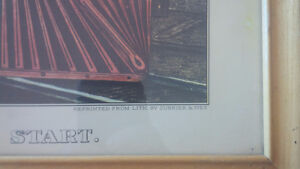 Vintage Print in Frame: The Night Express: The Start - Train Kitchener / Waterloo Kitchener Area image 3