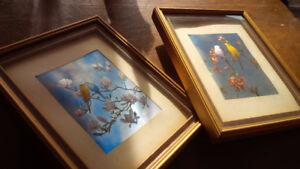 Framed, Matted, Birds in Foil Art Prints