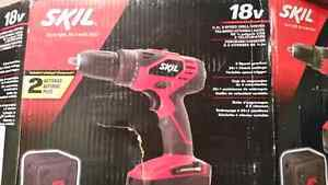 Skil 18V Drill Set Brand New in Box  Comes with Drill plus Two B