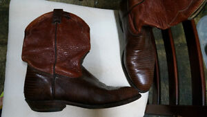 Boulet leather cowboy boots size 9, brown Sarnia Sarnia Area image 2