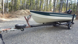 14 Foot Boat, Motor and Trailer for Sale