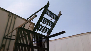 """FIRE ESCAPE-ALL STEEL- WITH 4 STEPS - 4FT x 9FT x 30"""""""