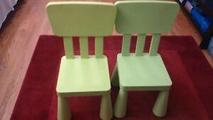 Ikea kids table and 2 chairs Kitchener / Waterloo Kitchener Area image 2