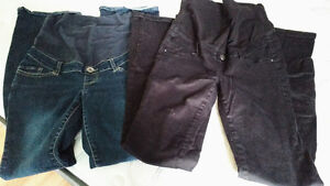 2 pairs of hardly worn Thyme Matenity pants