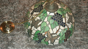 Stained glass Tiffany hanging light fixture