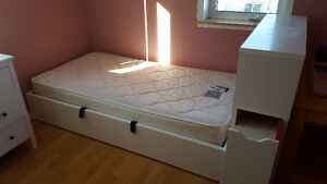 Children's Bed, Headboard and Storage