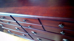 6-Drawer Solid Wood Double Dresser