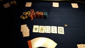 "Table Poker  39""X72""  Texas Hold'em"