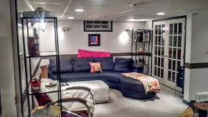 Fully furnished Lakeview basement available immediately