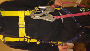 Delta Construction Safety Harness and Lanyard