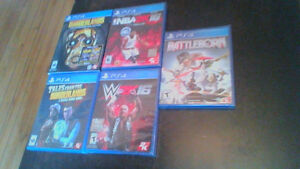 5 PS4 games for sale, never been opened