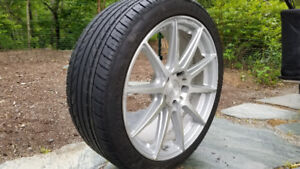 "Premium 19"" Niche rims and tires - almost new condition."