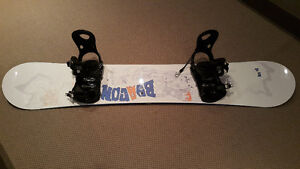 Gently use snowboard with bindings package 154cm