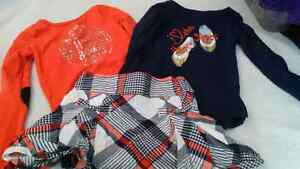 Gymboree Skirt with 2 Long Sleeve Shirts