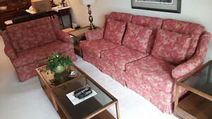Sofa and Chair, Coffee and End Tables