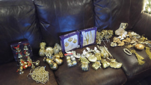 Huge Gold Tree Ornament Lot!