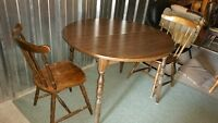round dining table and 2 chairs delivery included