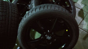 4 mags pour honda avec 4 pneus hiver