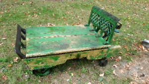 Beautiful cast iron and wood coffee table