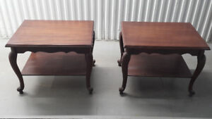 Antique end tables, excellent condition.  Solid wood pair