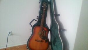 antique guitar  hande made  from 1966with hard shell case