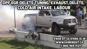 DODGE CUMMINS DPF/EGR/DEF DELETE CUSTOM TUNE+EXHAUST+INTAKE